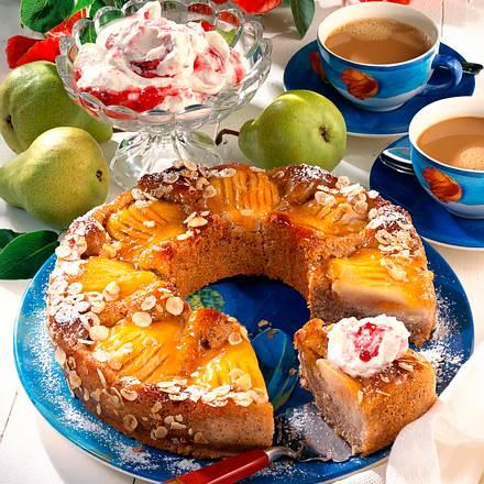 Birnen-Nuß-Kuchen Rezept