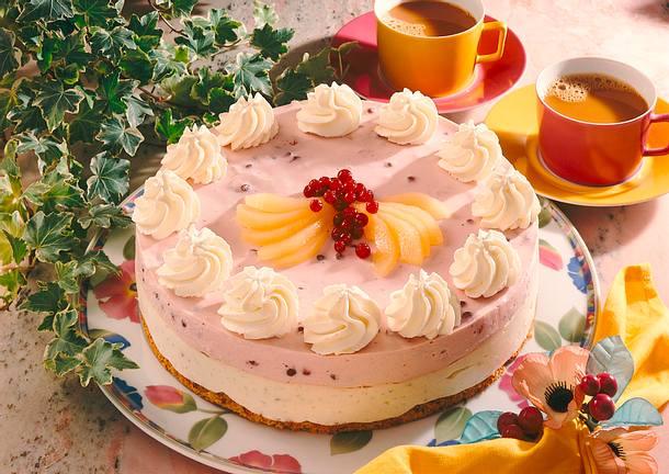 Birnen-Preiselbeer-Joghurt- Torte Rezept