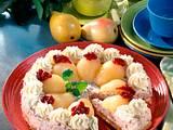 Birnen-Preiselbeer-Torte Rezept