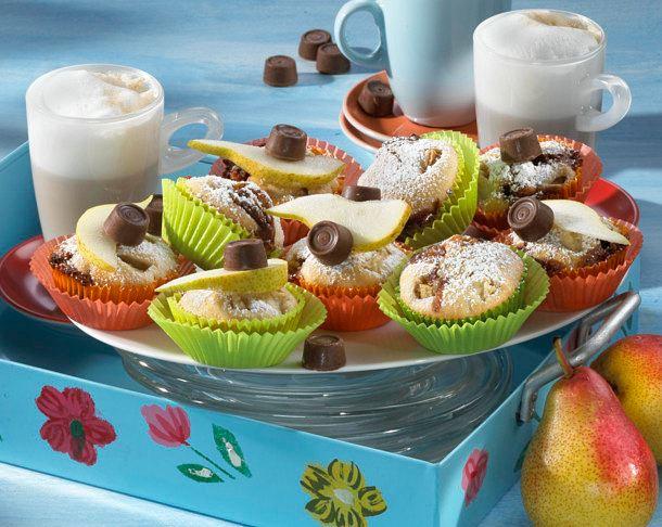 Muffins mit Birnen und Schoko-Toffee Rezept