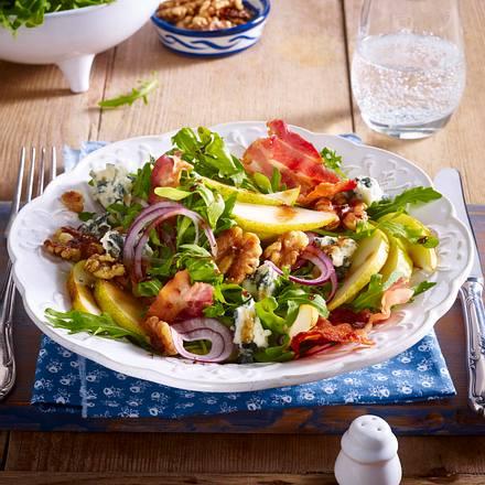 birnen rucola salat mit blauschimmelk se und waln ssen rezept chefkoch rezepte auf. Black Bedroom Furniture Sets. Home Design Ideas