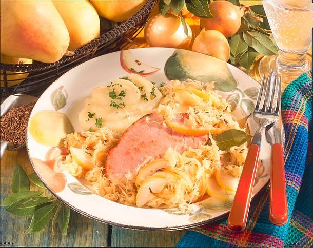 Birnen-Sauerkraut mit Kasseler Rezept
