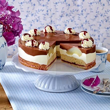 Birnen Schoko Torte Rezept Lecker