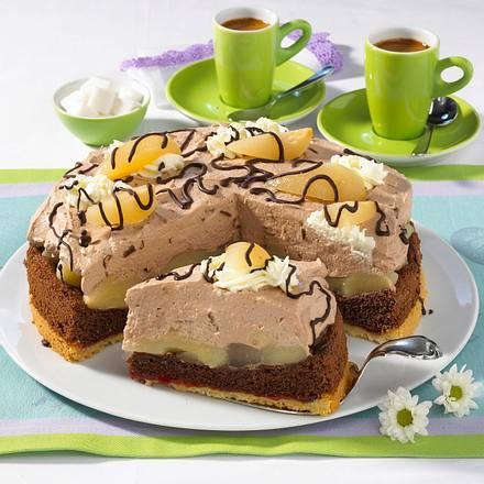 Birnen Schokoladen Torte Rezept Lecker