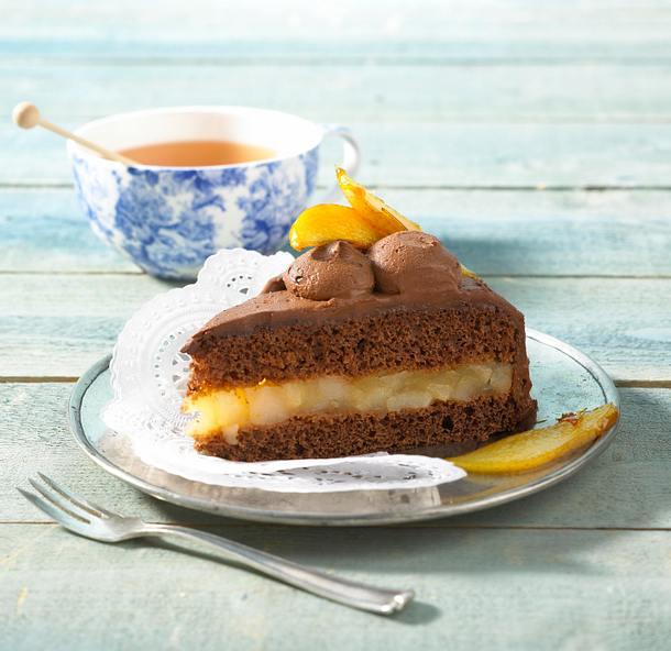 Birnen-Schokoladen- Torte Rezept
