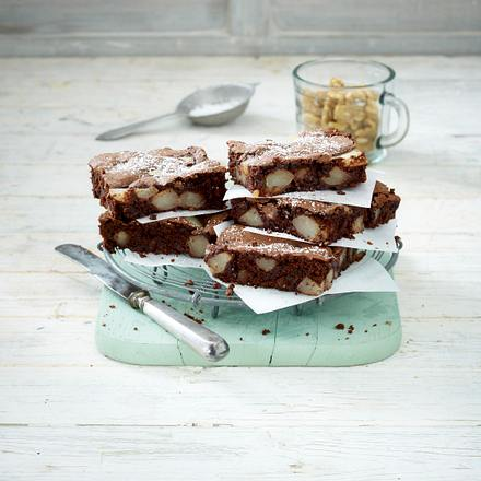 Birnen-Walnuss-Brownies Rezept