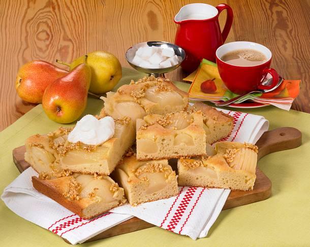 Birnenkuchen mit Mandeln Rezept