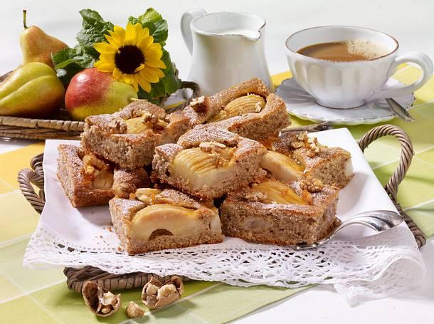 Birnenkuchen mit Walnüssen Rezept
