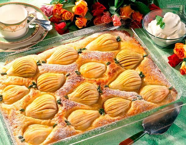 Birnenkuchen sehr fein Rezept