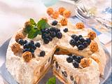 Biskuit mit Giotto-Heidelbeer-Sahne Rezept