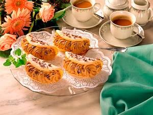 Biskuitomeletts mit Mokkasahne Rezept