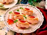Biskuitomeletts mit Quark- Pflaumenfüllung Rezept