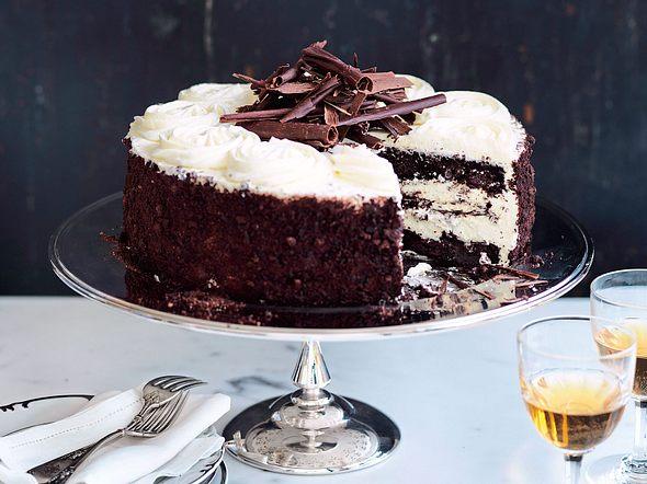 Black-coffee cake mit Schlag Rezept