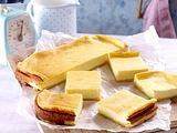 Blätterteig-Käsekuchen mit Apfelstückchen Rezept