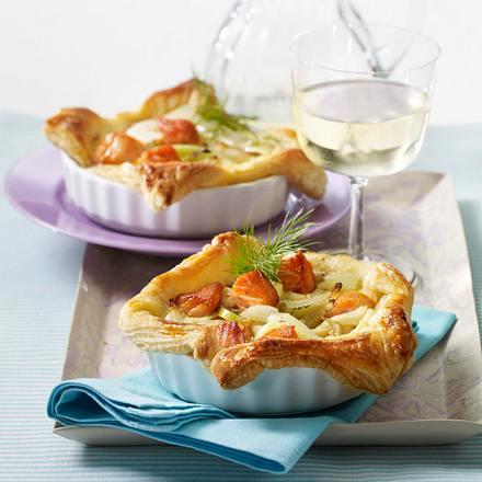Blätterteig-Quiche mit Lachs und Fenchel Rezept