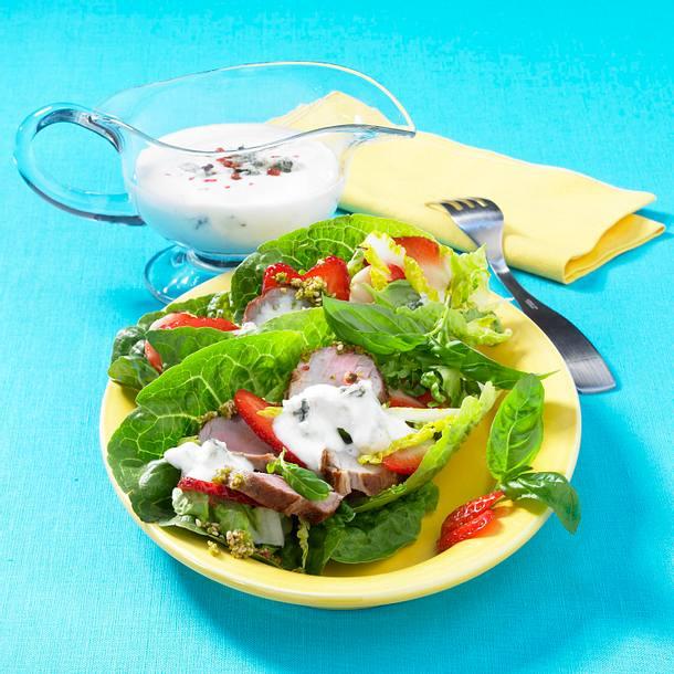 Blattsalat mit Filet Rezept