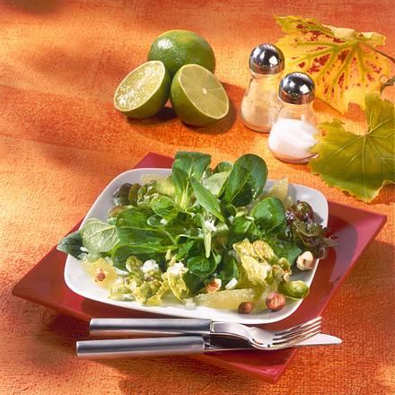 Blattsalat mit Nuss-Vinaigrette Rezept