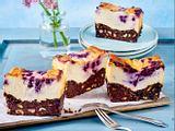 Blaubeer-Brownie-Käsekuchen Rezept