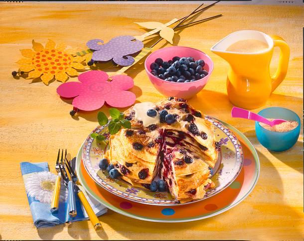 Blaubeer-Buttermilch-Pfannkuchen Rezept