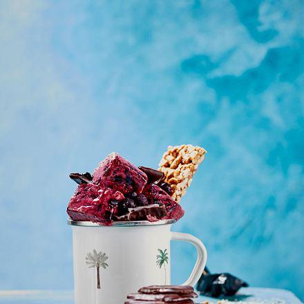 Blaubeer-Eis Rezept