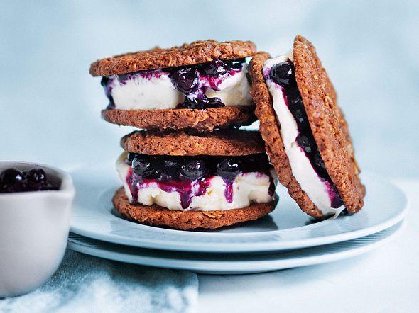 Blaubeer-Eiscreme-Sandwich Rezept
