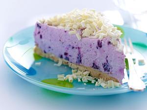 Blaubeer-Frischkäsekuchen mit weißer Schokolade Rezept