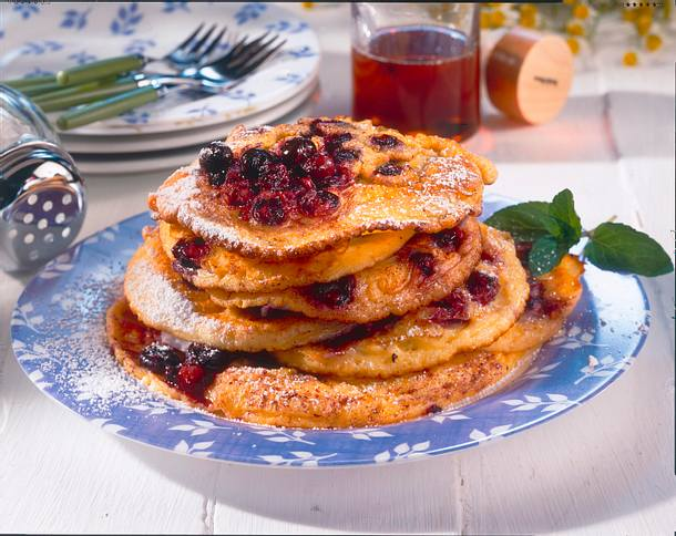 Blaubeer-Pfannkuchen Rezept
