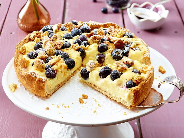 Blaubeer-Pudding-Kuchen Rezept
