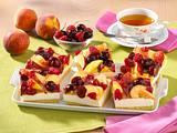 Blechkuchen mit Vanillecreme und Früchten Rezept