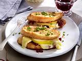 Blitz-Birnen-Käse-Sandwiches Rezept