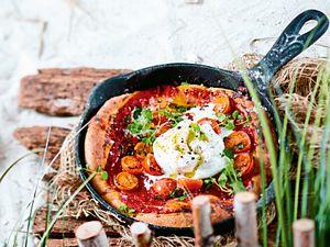 Blitz-Pizza Bufalina Rezept