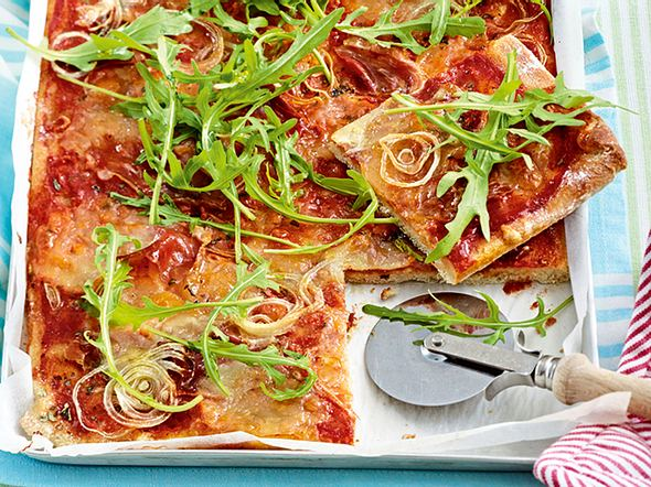 Blitz-Pizza di Parma Rezept