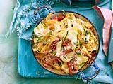 Blitzschnelle Zucchini-Bacon-Pasta Rezept