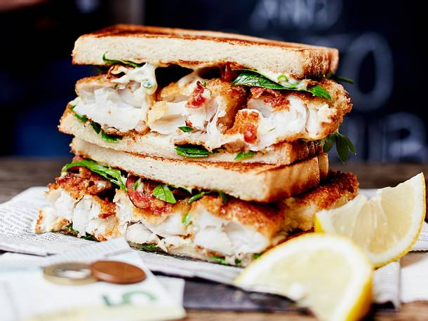 Blitzschnelles Surf-and-Turf-Sandwich aus dem Vorrat Rezept