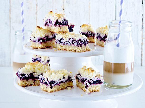 Blueberry Coconut Bars Rezept