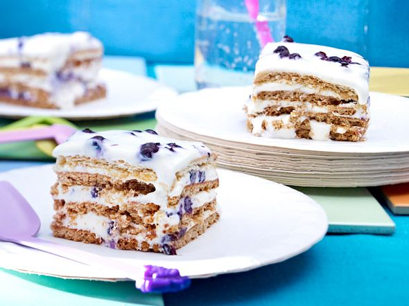 Blueberry-Squares Rezept
