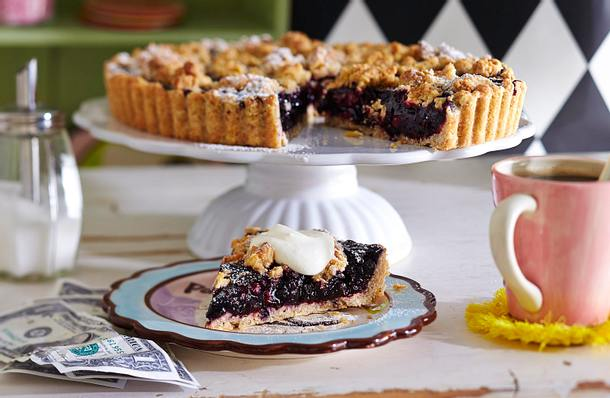 Blueberry-Tarte mit Pecannuss-Crunch Rezept