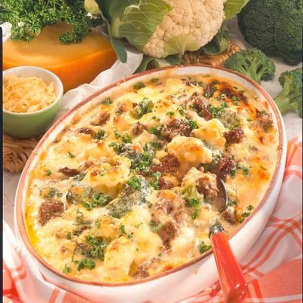 Blumenkohl-Broccoli-Auflauf Rezept