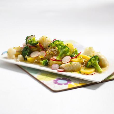 Blumenkohl-Broccoli-Kartoffel-Salat Rezept
