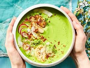 Blumenkohl-Kokos-Suppe mit Spinat Rezept