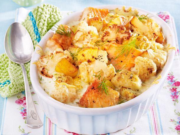 Blumenkohl-Lachs-Kartoffel-Auflauf Rezept