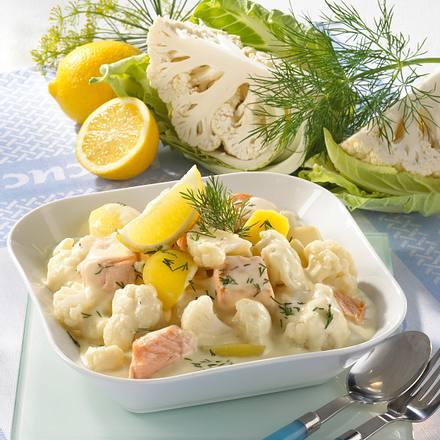 Blumenkohl-Lachs-Ragout mit Kartoffeln Rezept
