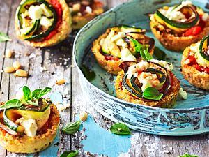 """Blumenkohl-Pizza-Muffins """"Happs und Weg"""" Rezept"""