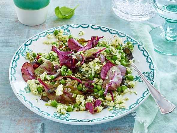 Blumenkohl-Salat mit Erbsen Rezept