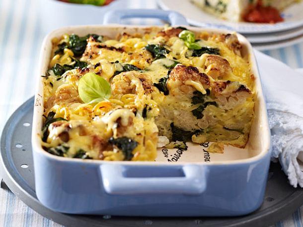 vegetarische aufl ufe 13 ofen hits mit viel gem se blumenkohl spinat auflauf rezept. Black Bedroom Furniture Sets. Home Design Ideas