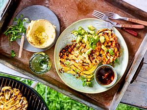 Blumenkohl-Steaks mit feuriger Asia-Marinade Rezept