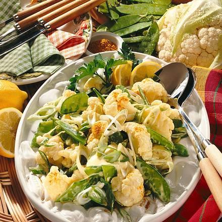 Blumenkohl-Zuckerschoten-Salat Rezept