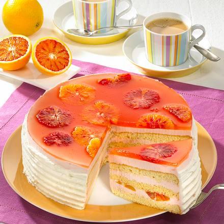 Blutorangen-Campari-Torte Rezept