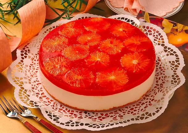 Blutorangen-Joghurt-Torte Rezept