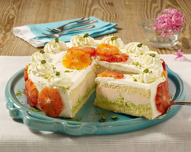 Blutorangen-Pistazien-Torte Rezept